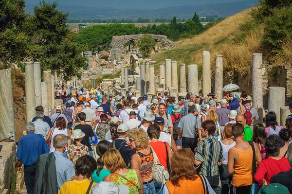 Visitors at the Ruins of Ephesus