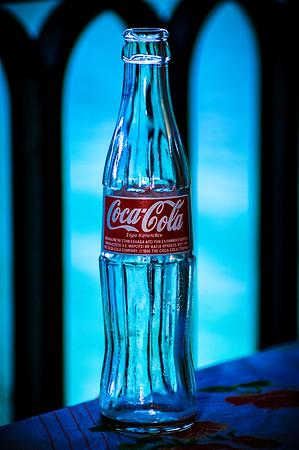 Coke in Greek Bottle at Lunch