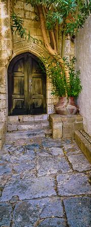 Lindos Church Entrance