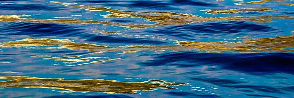 Sundown Relection of Santorini in the Sea #2
