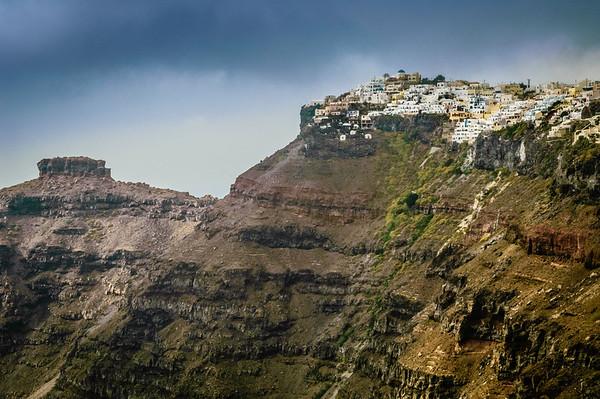 Cauldron Cliffs and Town of Fira #2