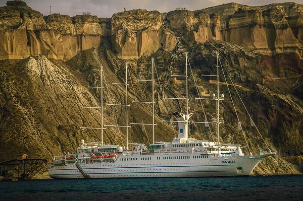Cruise Ship Near the Cliffs #1