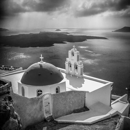 Santorini Church #6, B&W