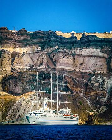 Cruise Ship Near the Cliffs #2
