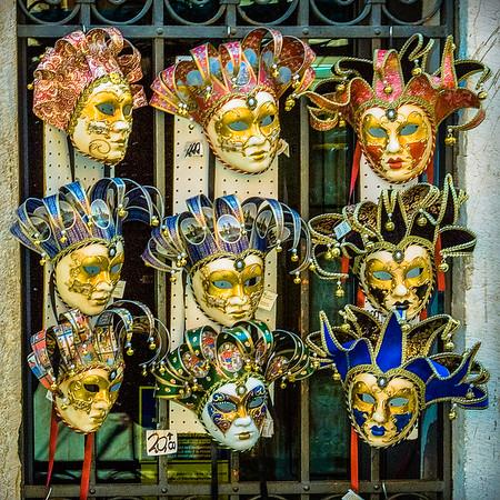 Nine Porcelain Masks