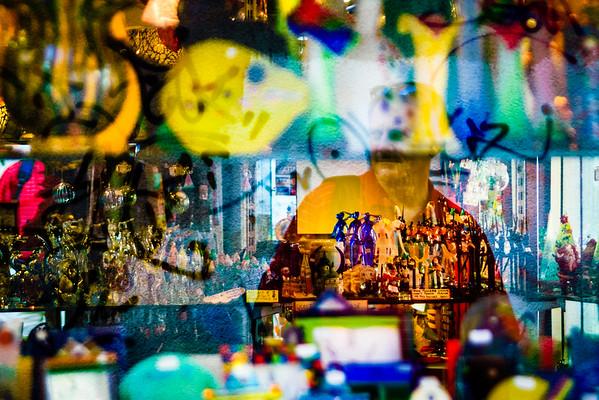 Venetian Shop Window and Reflection