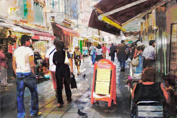 Venice Street Scene #1, Stylized