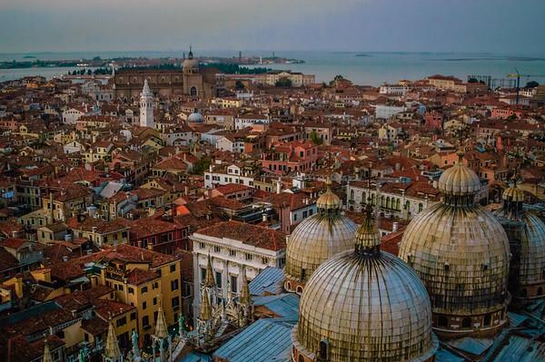 Vista Over the Domes of Basillica San Marco