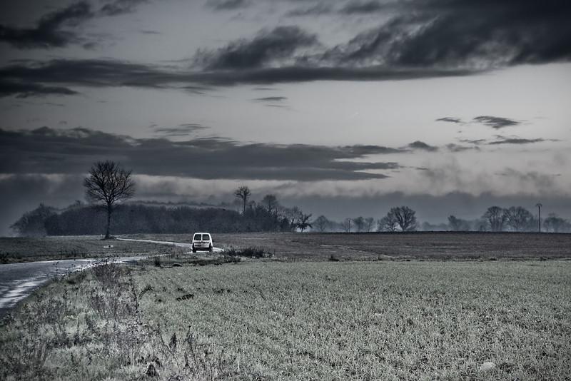 camionnette à la campagne