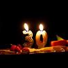 un anniversaire, trente ans, deux bougies