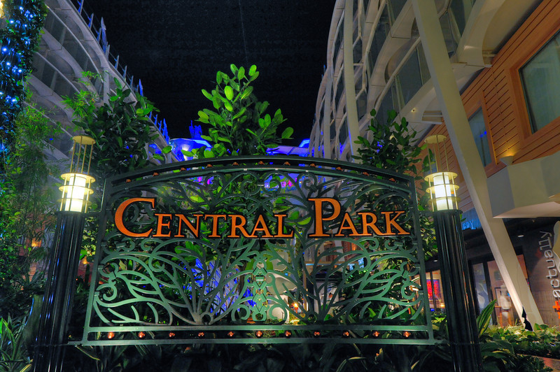 This is Central Park on the Cruise Ship Oasis of the Seas.