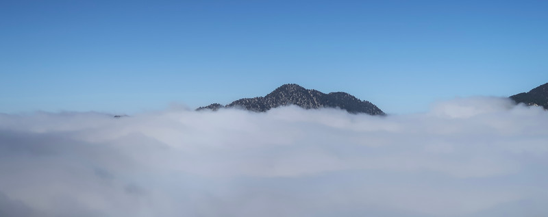 Marine layer shrouded the San Gabriel mountains the entire day
