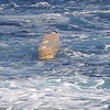 Float in deployent box, after deployment  from a moving ship