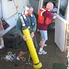 Curran Fey of the TAO project and Shawn Gendron of the NOAA Ship Ka'imimoana prepare to deploy a PMEL Argo float in the Tropical Pacific