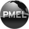 PMEL round logo variation, no text: black&white, PNG, 909x909, transparent background