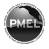 PMEL round logo variation with text: black&white, PNG, 1200x1200, transparent background