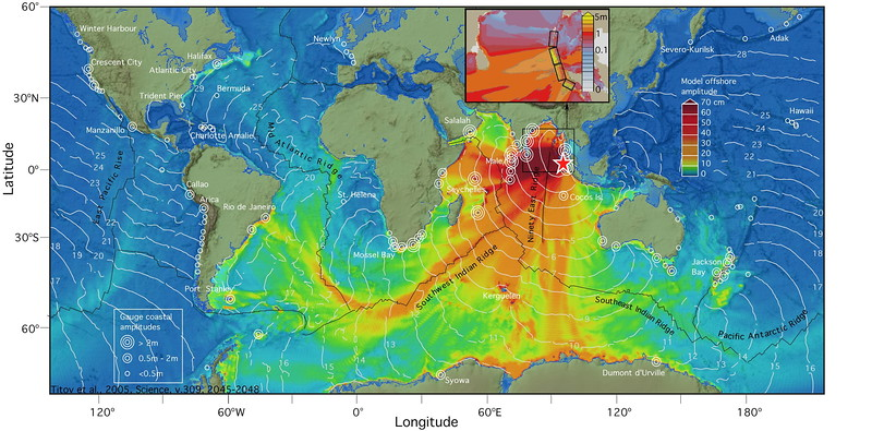 Energy propagation pattern of the December 26, 2004 Sumatra tsunami calculated with MOST forecast model