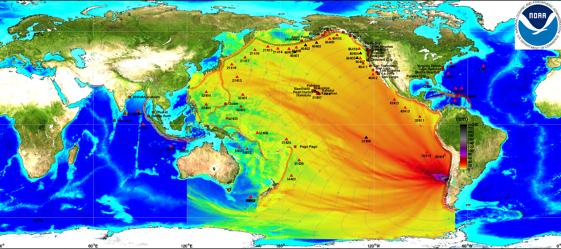 Energy propagation pattern of the  27 February 2010 Chile tsunami calculated with MOST forecast model