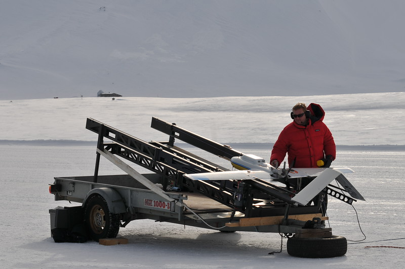 Unmanned autonomous aircraft monitoring Arctic soot