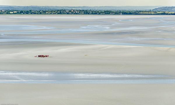 Marée humaine au Mont Saint-Michel