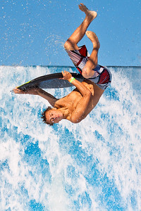 Inverted Wave Surfer