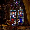 Stain glass La Seu Cathedral.  Barcelona.