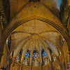 The main dome of the La Seu Cathedral, Barcelona.