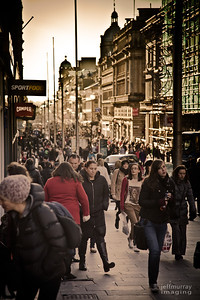 Buchanan Street Shopping Crowds: I took my camera in so that I could console myself on my first day back after holidays.    I had such an enjoyable photographic break over Christmas and New Year.  I needed shutter therapy.  I wanted to do some street work, but wasn't in a people mood, this was my best from the day.