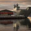 HMAS Canberra at the Cruise Ship Terminal