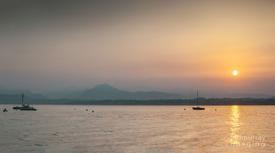 Mt Baldo sits in the North Eastern shores of Lake Garda.  Here is it at sunrise in mid summer.