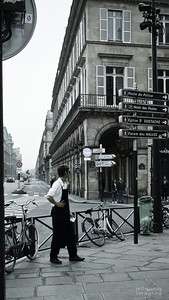 Parisian Waiter - takes a break.