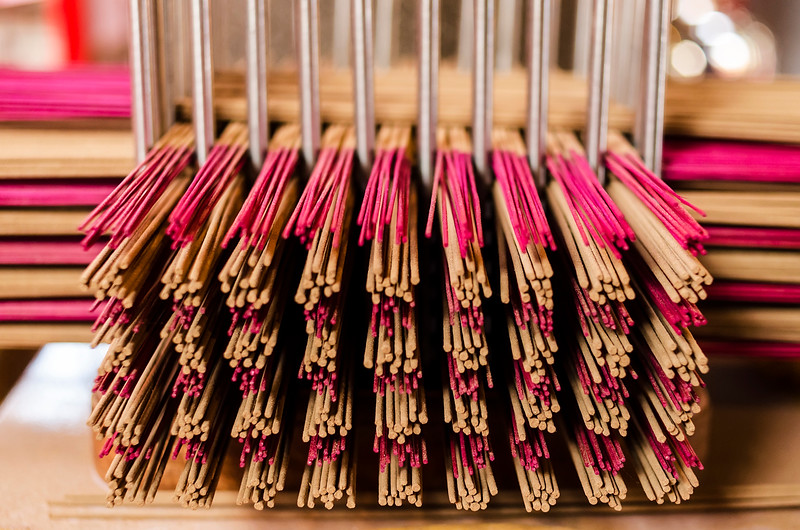 stacks of incense