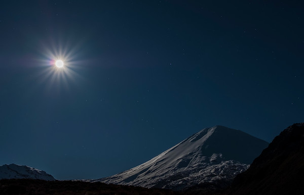 Full Moon over Ngauruhoe