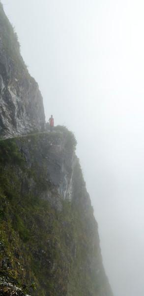Cliffs in the mist