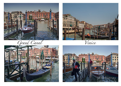 A collection of Photos shot on the Grand Canal in Venice.  The gentleman in the suit left this boat and entered the larger one on the left, with a camera crew.  I have no idea who he is - a guess is a TV Journalist.