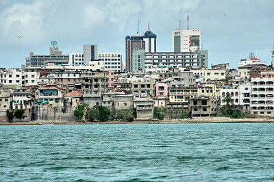 Mombasa Kibokoni, view from a boat