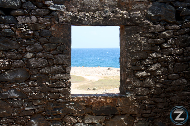 Abandoned Mine Overlooking the Ocean in Aruba