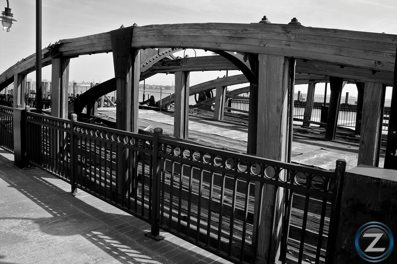Ferry Docking Bridges used during Ellis Island's Operation - Liberty State Park - Jersey City, NJ