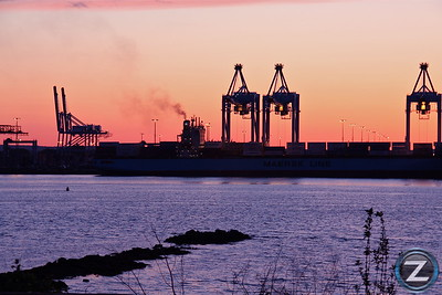 Port Newark - Elizabeth Shipping Container Facility - Newark Bay, NJ