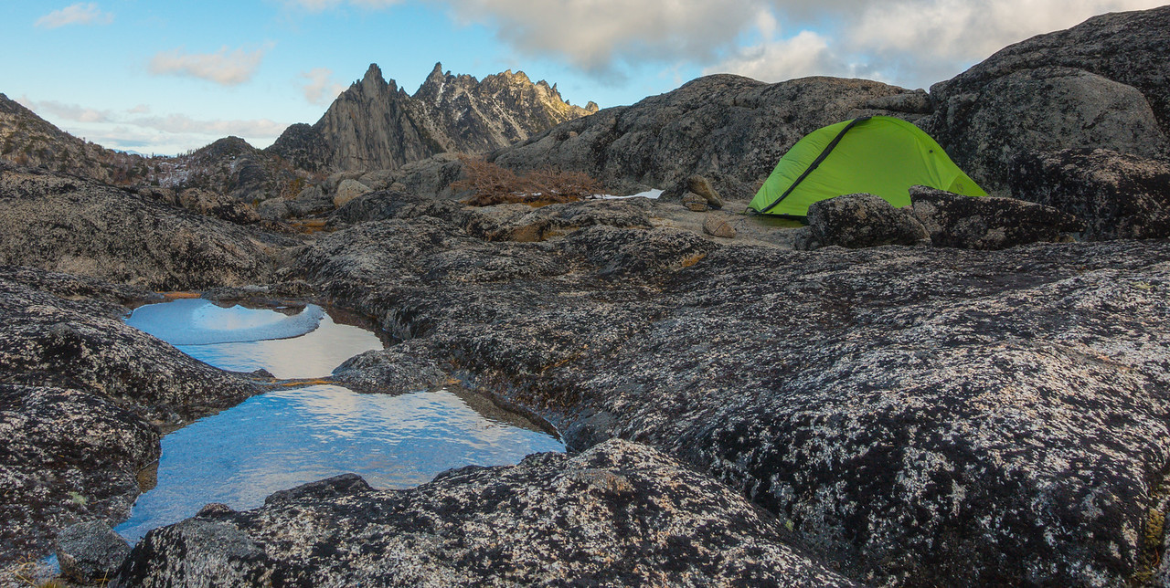 My campsite at Enchantment Lakes