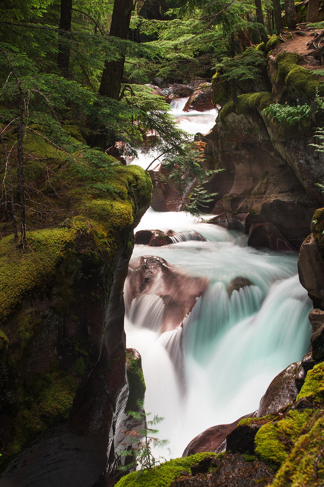 Avalanche Lake falls