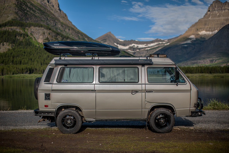 Syncro Westy at Glacier