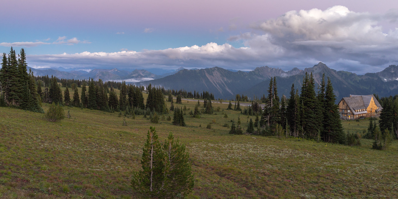 Purple Skies at Mount Rainier