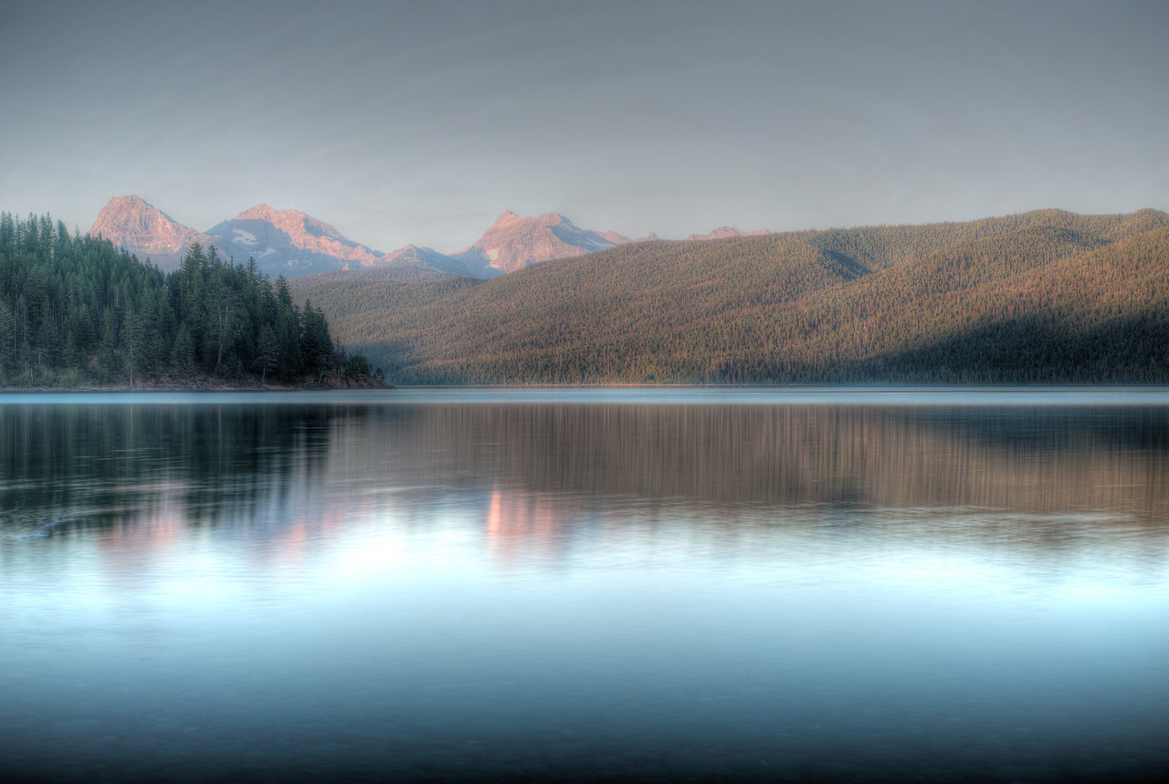Lake MacDonald after swimming