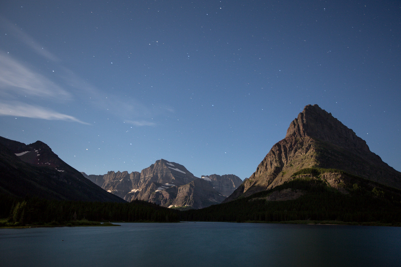 Mount Grinnell full moon nightscape...