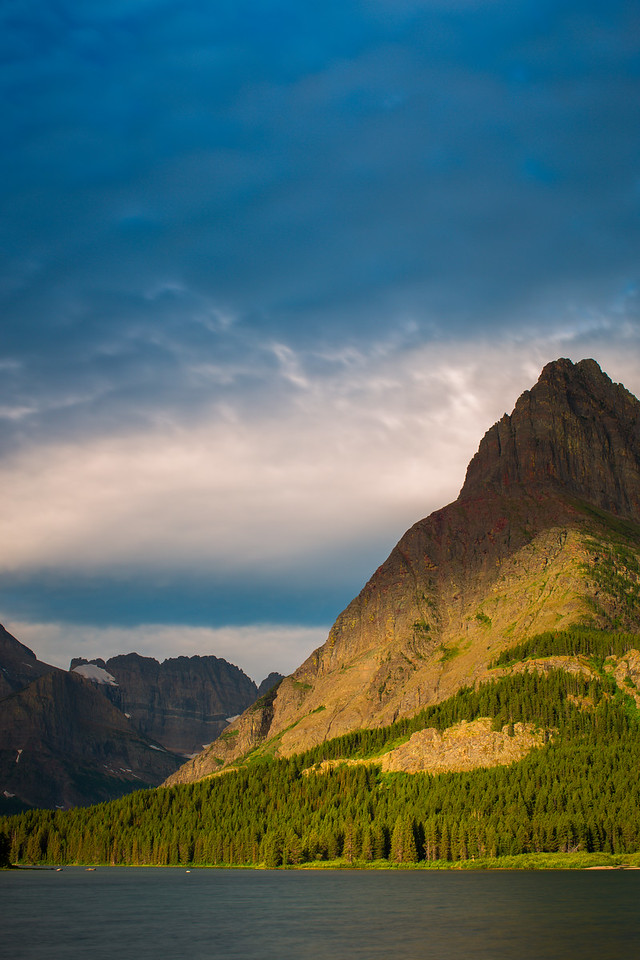 Mount Grinnell stormy sunrise...