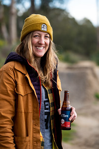 Cheers to an awesome shoot! Ashli Lewis enjoys a cold one after a shoot for Ride Concepts #thenbeer @crashli for @ridecncpts