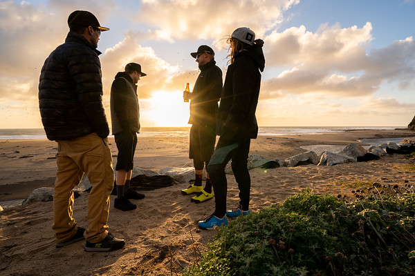 Post shoot beach time with the @rideconcpts crew.