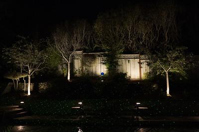 Front yard at night