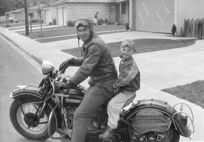 Dad and me, 1959